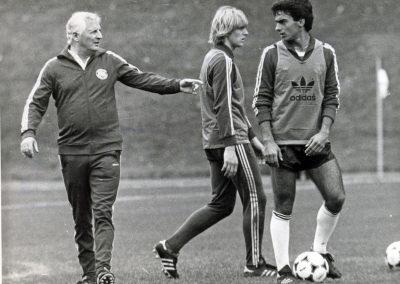 Jupp Derwall und Bernd Schuster