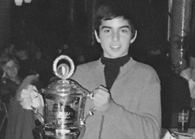 1. Pokal mit 14 Jahren  1971