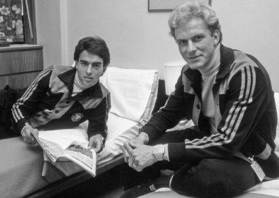 Zimmerkollege Kalle Rummenigge  WM 1978